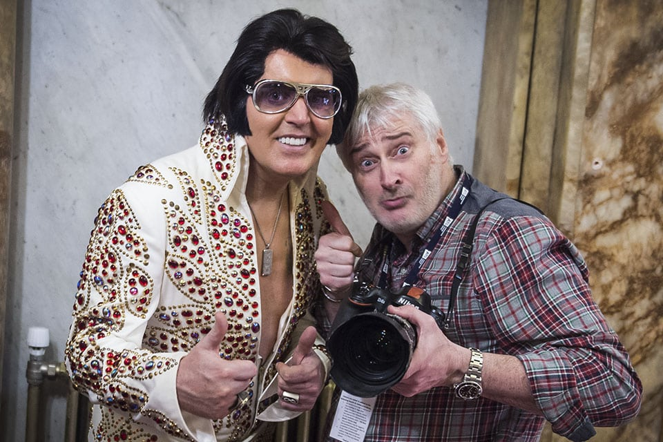 A vision of Elvis at the King's Theatre.