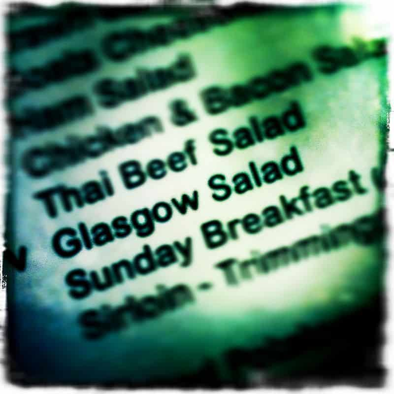 photographer glasgow edinburgh scotland 1 - Salad for a Glasgow Photographer.